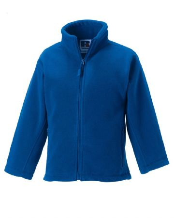 WATTEN EARLY LEARNING CENTRE ROYAL BLUE  FLEECE WITH LOGO